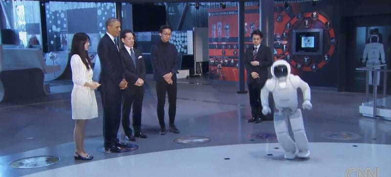 Watch President Obama Play Soccer With Honda's Robot