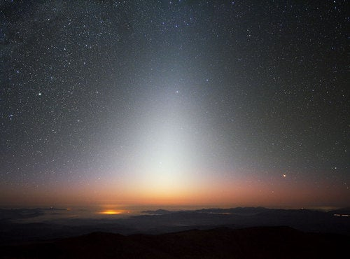 The Sun's Trailing Halo Of Shining Dust, Seen After Sunset