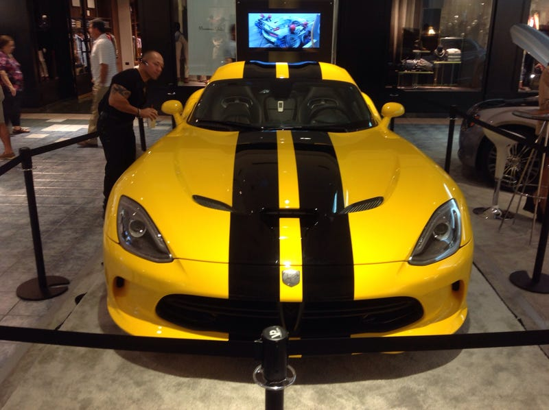 So I saw an SRT Viper GTS at the mall today.