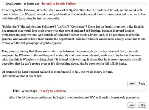 Did Harvard Faker Write Fake Comments on Article About Himself?