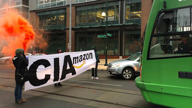 Amazon Protestors Block Seattle Traffic
