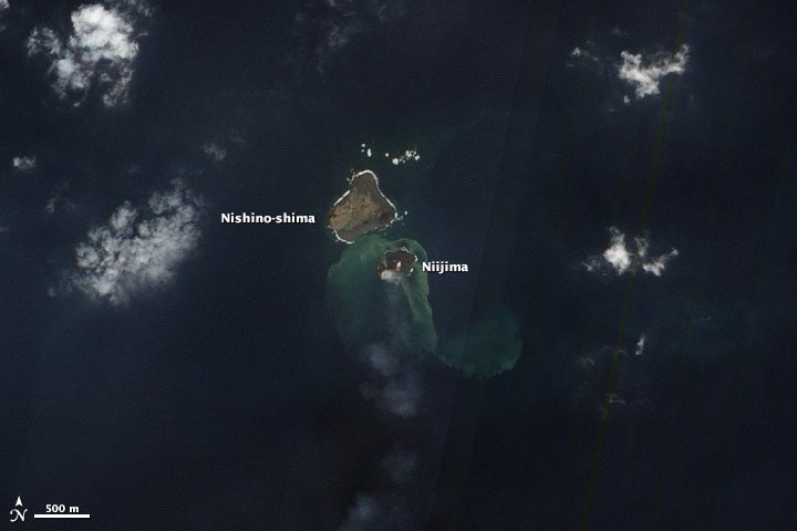 Japan's new island keeps growing