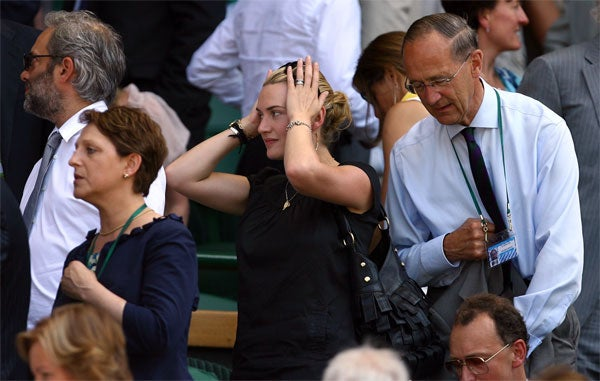 Winslet Wowed By _______ At Wimbledon