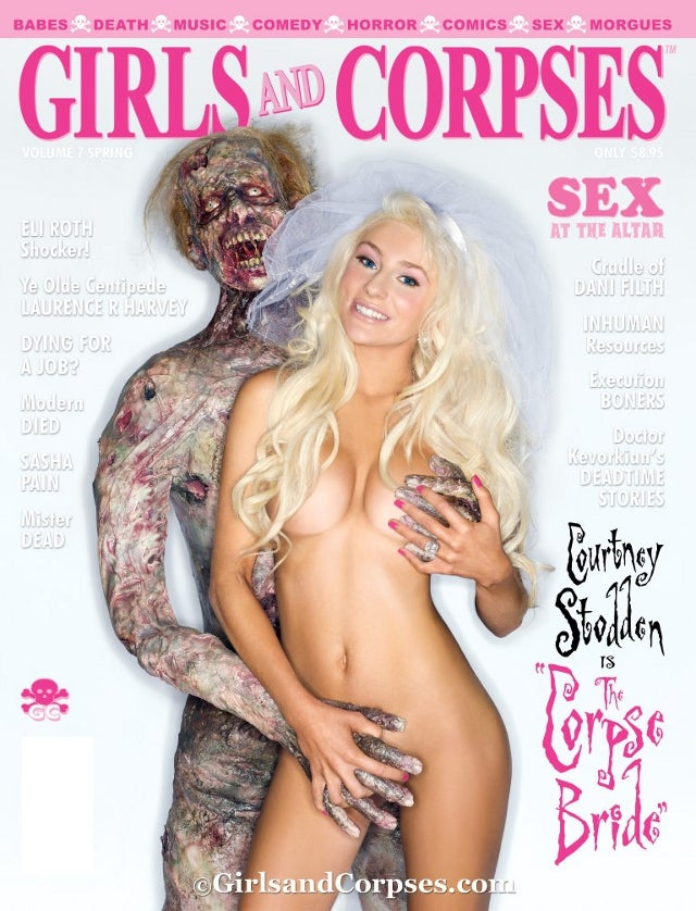 Courtney Stodden Out-Courtney-Stoddens Herself by Going Full Frontal for the Cover of a Corpse Fetish Magazine (NSFW)