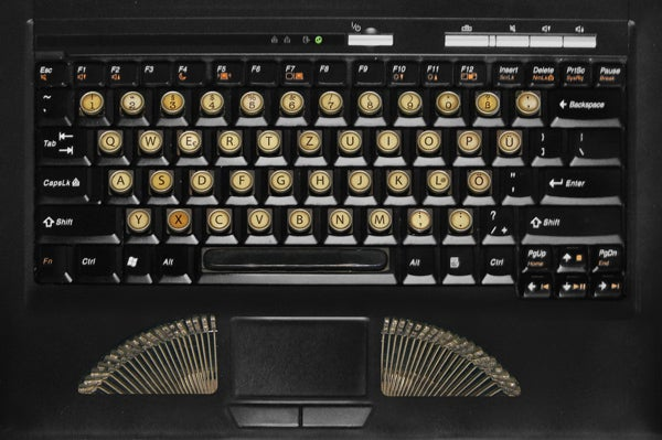 These Vintage Keyboard Stickers Make Me Want To Type By Candlelight