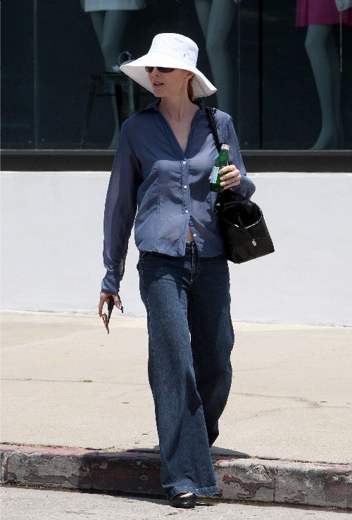 Marcia Cross Gets Curbed