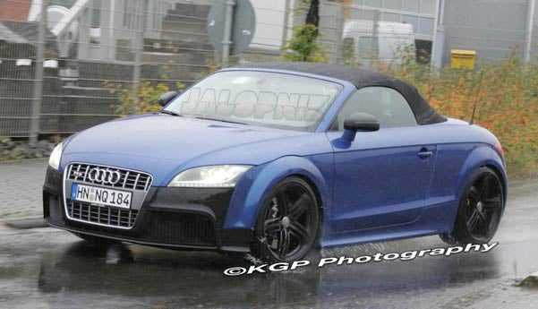 Audi TT-RS Cabrio Spied Prowling Near The Ring Sans Top, Camouflage