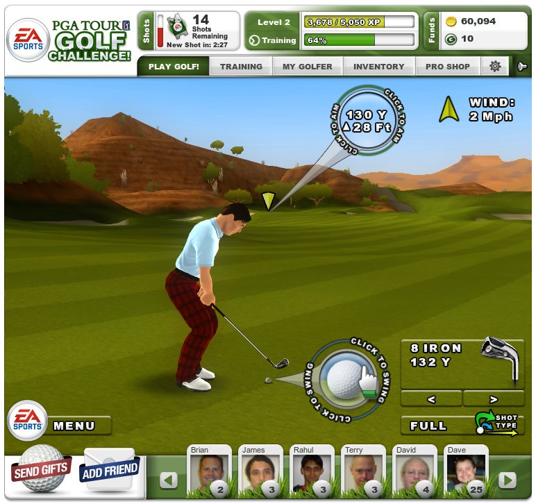 PGA Tour Challenge Screenshots