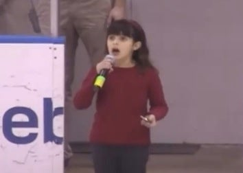 Crowd Pitches In On National Anthem After Girl's Mic Fails