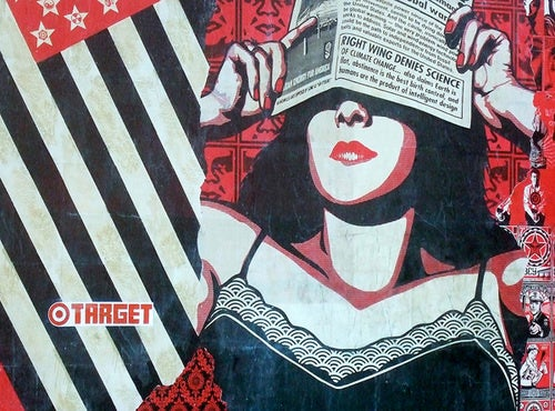 The Race to Vandalize Shepard Fairey's Mural