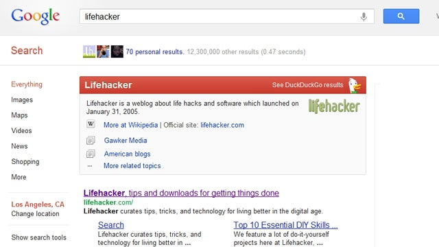 "Add DuckDuckGo's Smart ""Zero-Click Info"" Results to Google Searches in Chrome"