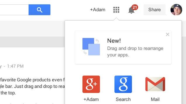 Customize Your Google Shortcuts Bar Through Drag and Drop