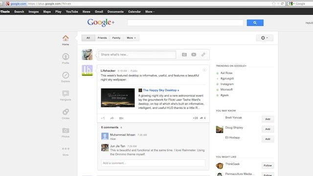 Whitespace Remover for Google Plus Cleans Up the New Google+ Layout on Chrome and Firefox