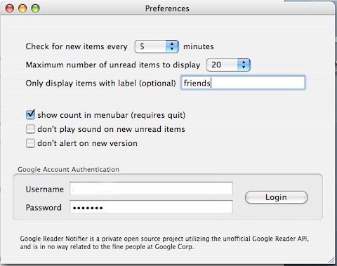 Download of the Day: Google Reader Notifier (Mac)