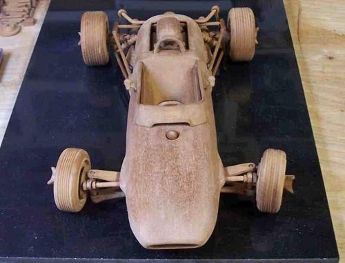 Amazingly Accurate Historic Wooden Race Cars