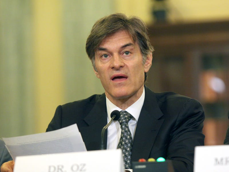 Senate Panel Rips Dr. Oz a New One for Lying to Your Fat Face