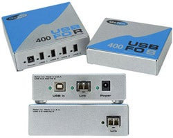 Fiber Optic USB Hubs Extend Devices 500 Meters