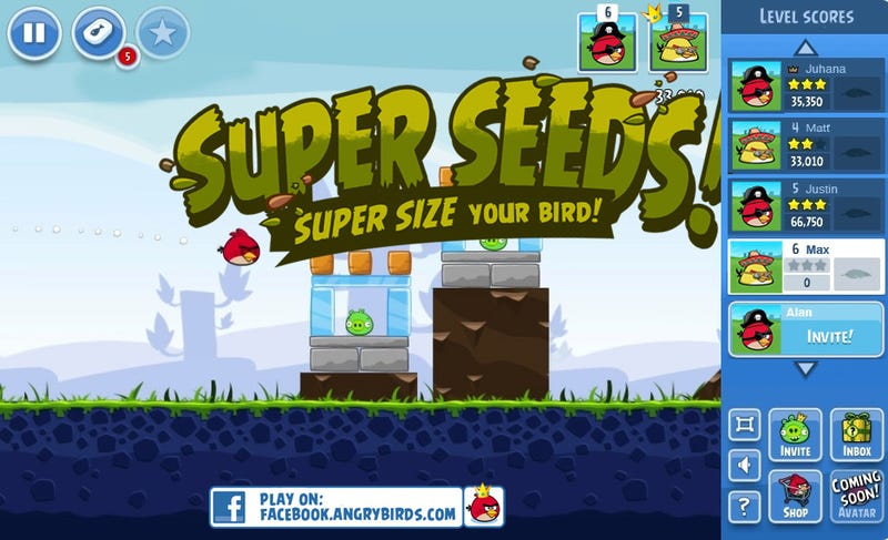 How Facebook Powers Up Angry Birds, or Enter the Birdquake