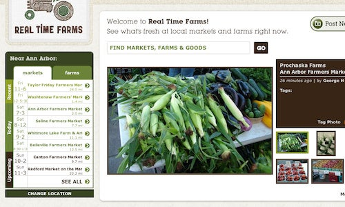 Real Time Farms Is a User-Supported, Local Farmers Market Guide