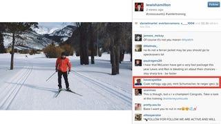 Így kommentel a magyar Lewis Hamilton fotójára