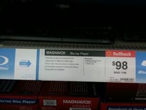 Walmart Rolls Back Blu-ray Player To $98