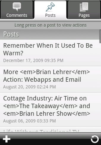 WordPress for Android Writes and Edits Posts on the Go