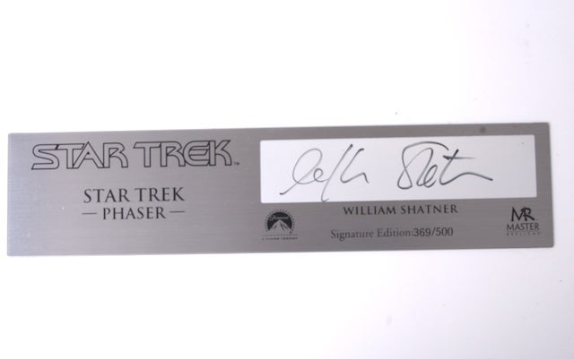 Autographed Star Trek Phasers, Communicators to Go On Sale Next Week