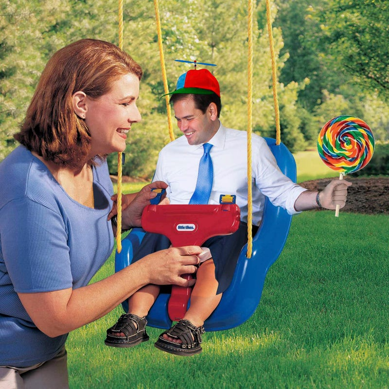 These Photoshops of 'Little Marco' In a Giant Chair Are Brutal