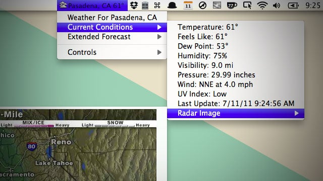 Meteorologist Puts Incredibly Detailed Weather in Your Mac's Menu Bar
