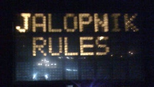 Pikes Peak electronic road sign hacked by Jalopnik fans