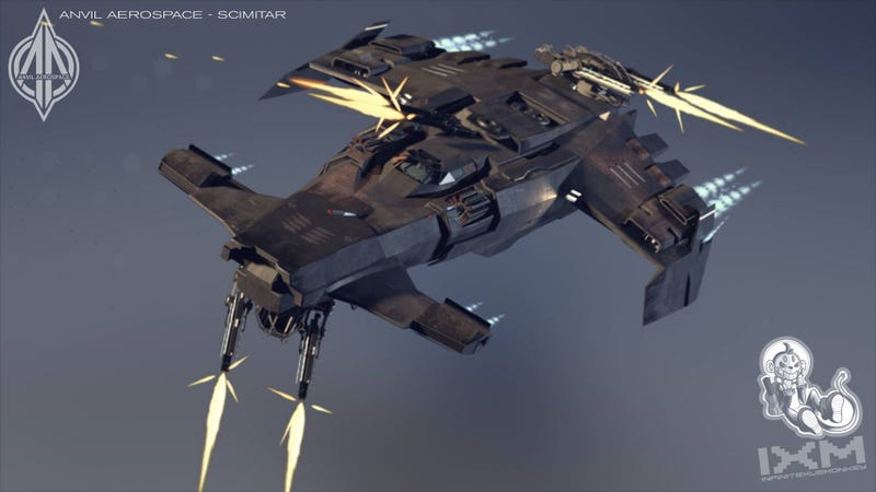 The cool spaceships of Star Citizen
