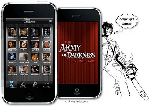 Army of Darkness Invades the iPhone