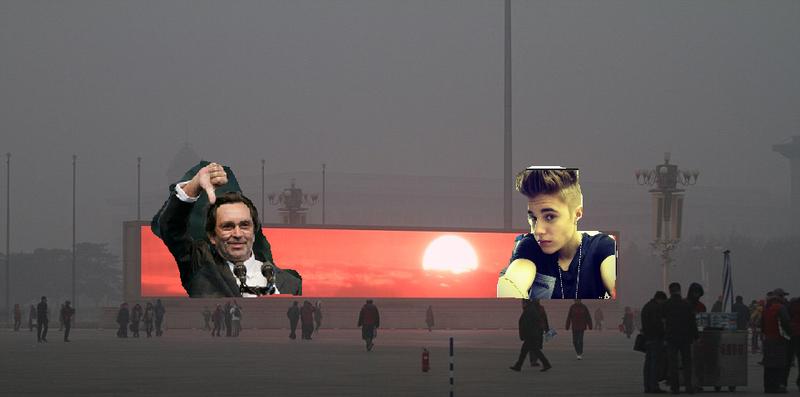 Kerényi Imre és Justin Bieber a pekingi szmogban