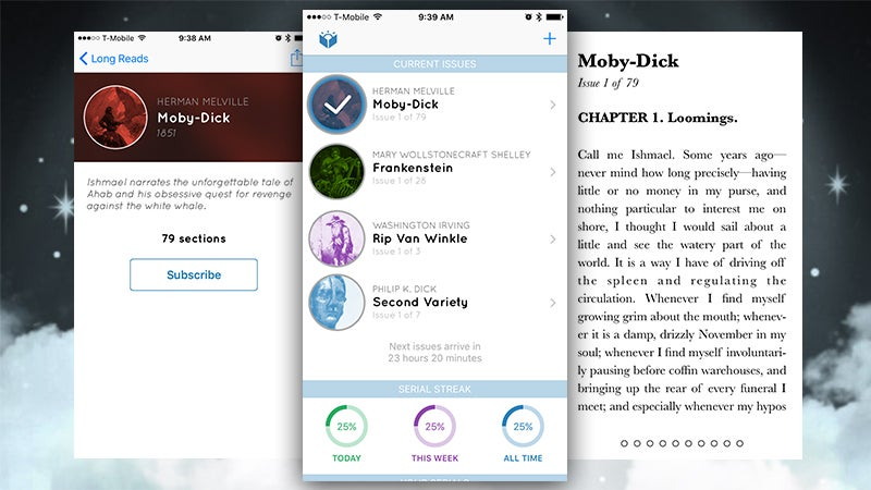 Serial Reader for iOS Dishes Out Short Snippets of Classic Fiction Daily