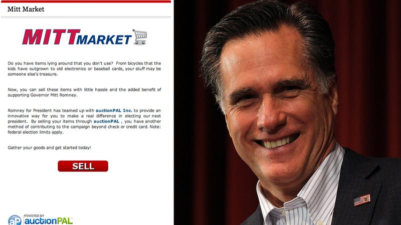 Imagine All the Things You Could Have Sold On Romney's 'Mitt Market'