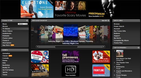 iTunes Now Has TV Downloads in HD From All Four Major Networks