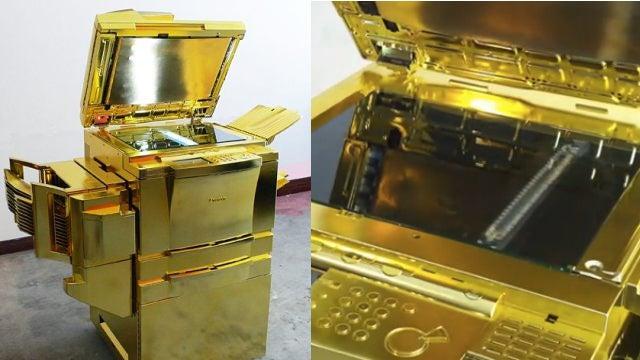 Golden Photocopier Unfortunately Won't Turn Looseleaf Into Gold-Leaf