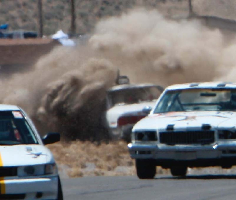 Dust Flies, Metal Bends On The Reno-Fernley Track