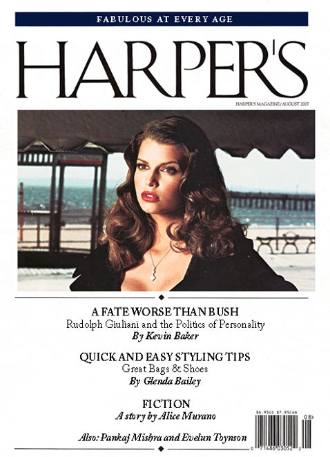 The 'Harper's Bazaar' Index: August 2007