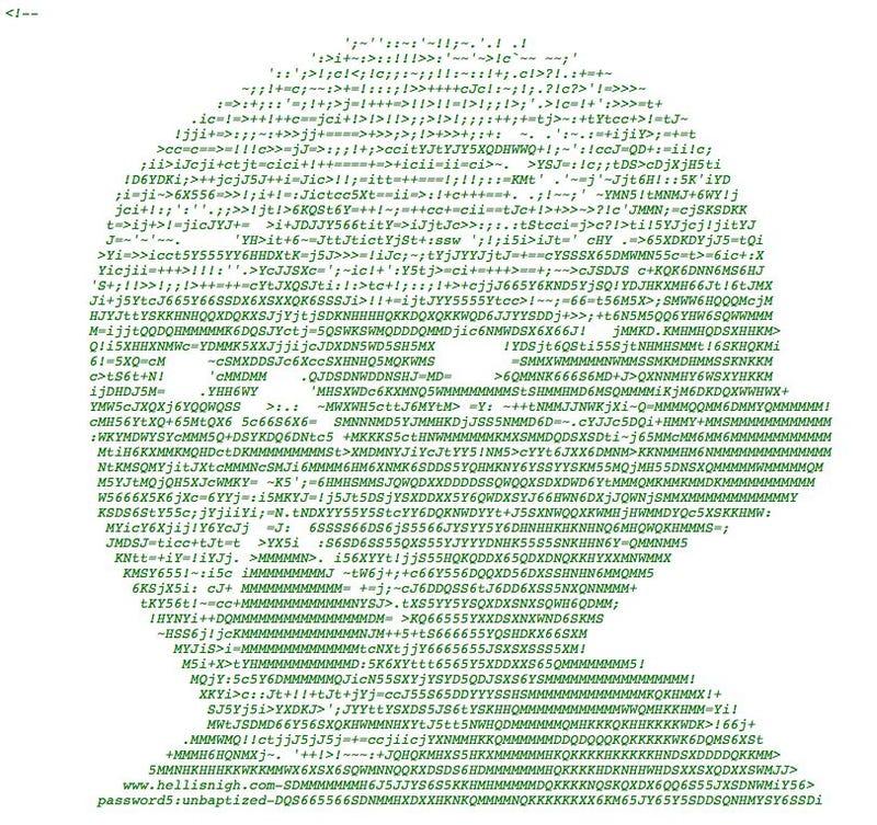 Latest Dante Stunt Buries ASCII Art In Our Source Code