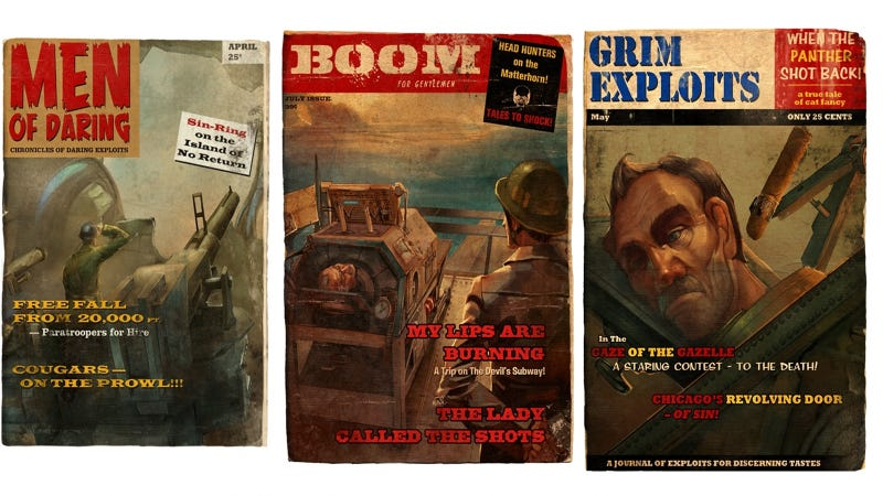 The Rollicking Pulp Magazine Covers of Trenched