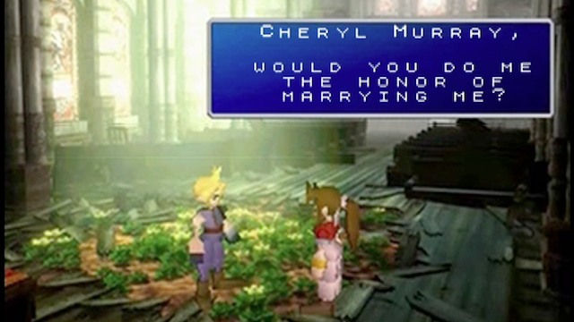 There's No Wedding Proposal Like a Final Fantasy Wedding Proposal