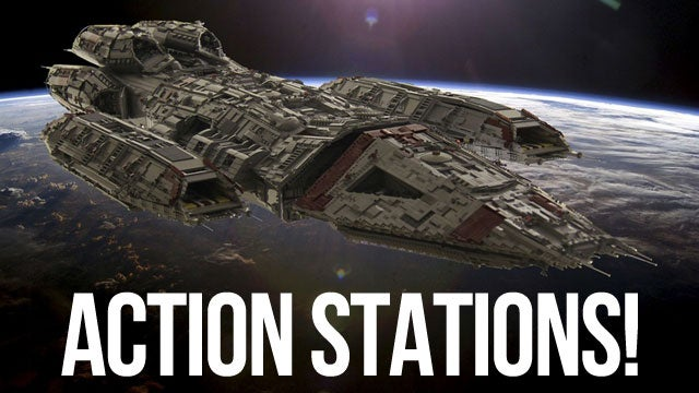 This Incredible Battlestar LEGO Model is Ten Feet Long