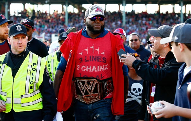 David Ortiz Rocks WWE Belt During Championship Parade