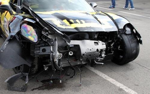 Racing Corvette ZR1 Crash