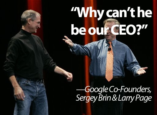 Google Co-Founders Wanted Steve Jobs To Be CEO of Google