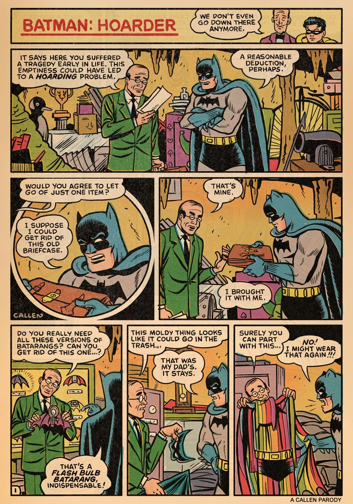 Batman: The Ultimate Hoarder?