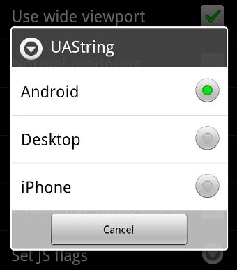 Change the User Agent on an Android Phone