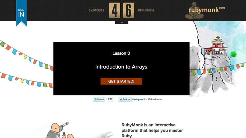 RubyMonk Teaches You the Ruby Programming Language with Interactive Exercises