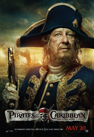 Pirates of the Caribbean 4 Barbossa poster